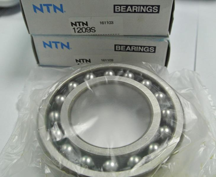 China Supplier High Precision NTN Brand Self-aligning BallBearing 1209 1209K Size 45*85*19 Self aligning for Motocycles